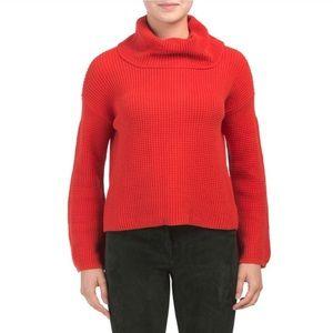 Splendid Red Cowl Neck Sweater